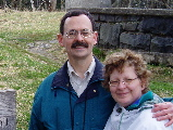 Jim and Peg (at Clingmans Dome in Great Smoky Mountains National Park, April 2004)